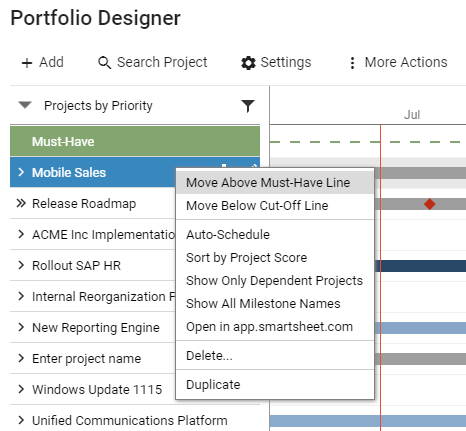 If you imported your project via Smartsheet, you can directly open it there