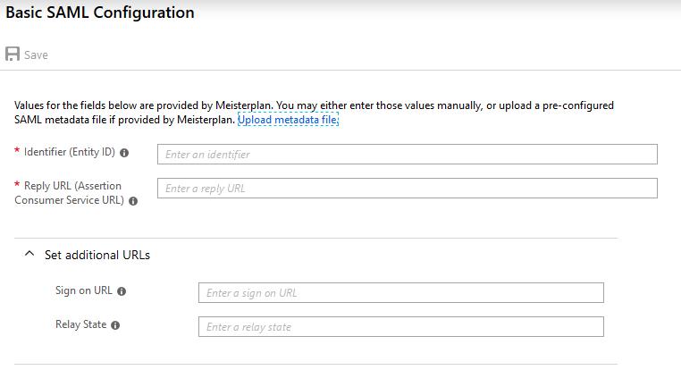 Configuring SSO via SAML 2 0 with Azure AD – Meisterplan